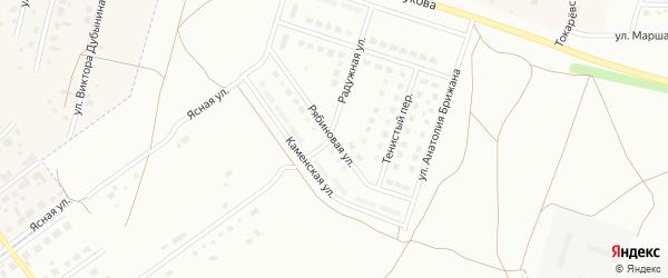 Рябиновая улица на карте Каменска-Уральского с номерами домов
