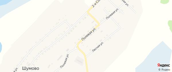 Полевая улица на карте села Шумово с номерами домов