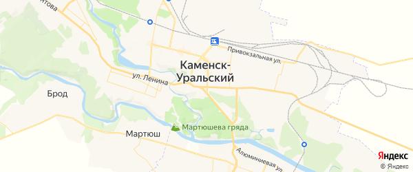 Карта Каменска-Уральского с районами, улицами и номерами домов