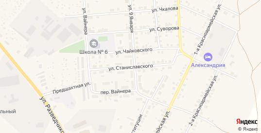 Улица Станиславского в Артемовском с номерами домов на карте. Спутник и схема онлайн