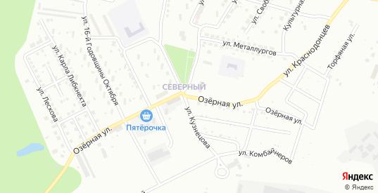 Озерная улица в Каменске-Уральском с номерами домов на карте. Спутник и схема онлайн