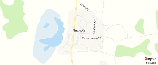 Карта Лесного поселка в Челябинской области с улицами и номерами домов