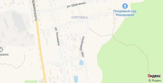 Переулок Шевченко в Артемовском с номерами домов на карте. Спутник и схема онлайн