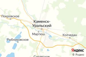 Карта г. Каменск-Уральский Свердловская область
