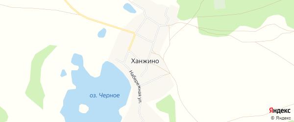 Карта села Ханжино в Челябинской области с улицами и номерами домов