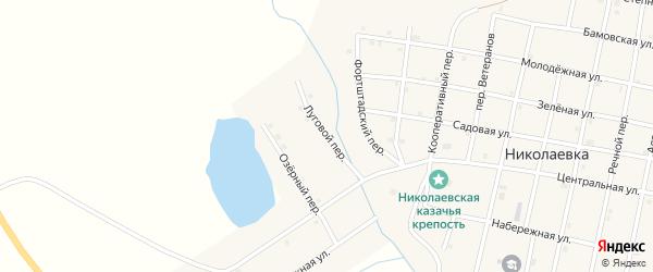 Луговой переулок на карте села Николаевки с номерами домов