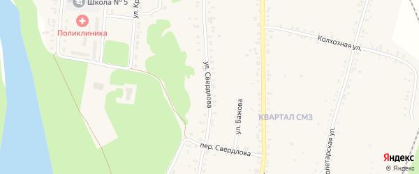 Улица Свердлова на карте Сухого Лога с номерами домов