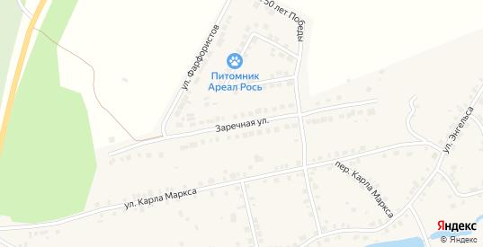 Заречная улица в Богдановиче с номерами домов на карте. Спутник и схема онлайн