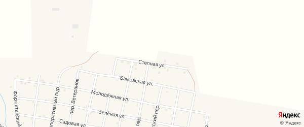 Степная улица на карте села Николаевки Челябинской области с номерами домов