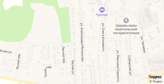 Улица Александра Матросова в Богдановиче с номерами домов на карте. Спутник и схема онлайн