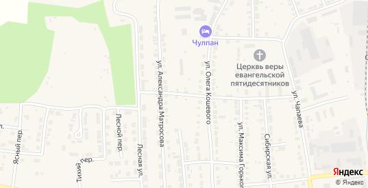 Переулок Александра Матросова в Богдановиче с номерами домов на карте. Спутник и схема онлайн