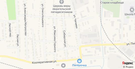 Сибирский переулок в Богдановиче с номерами домов на карте. Спутник и схема онлайн
