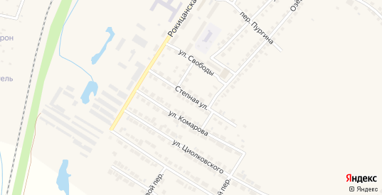 Степная улица в Богдановиче с номерами домов на карте. Спутник и схема онлайн