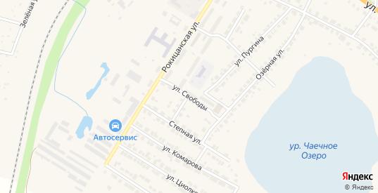 Улица Свободы в Богдановиче с номерами домов на карте. Спутник и схема онлайн