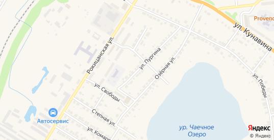 Улица Пургина в Богдановиче с номерами домов на карте. Спутник и схема онлайн