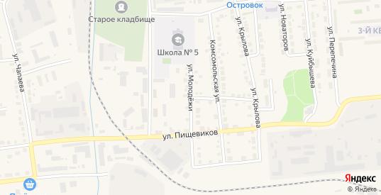 Улица Молодежи в Богдановиче с номерами домов на карте. Спутник и схема онлайн
