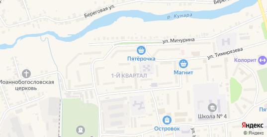 1-й квартал в Богдановиче с номерами домов на карте. Спутник и схема онлайн