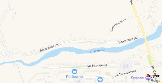 Береговая улица в Богдановиче с номерами домов на карте. Спутник и схема онлайн