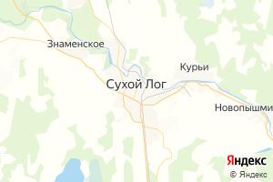 Карта г. Сухой Лог Свердловская область