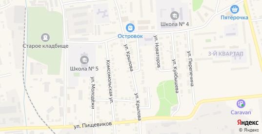 Улица Крылова в Богдановиче с номерами домов на карте. Спутник и схема онлайн