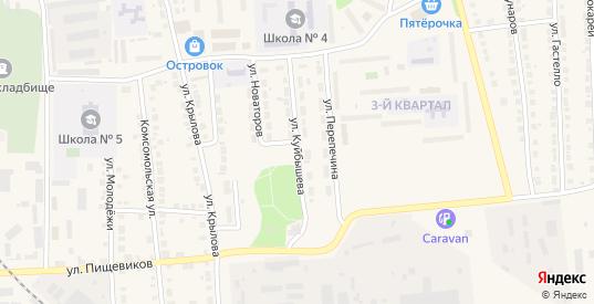 Улица Куйбышева в Богдановиче с номерами домов на карте. Спутник и схема онлайн