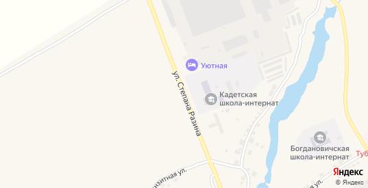Улица Степана Разина в Богдановиче с номерами домов на карте. Спутник и схема онлайн