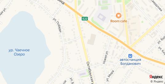 Октябрьская улица в Богдановиче с номерами домов на карте. Спутник и схема онлайн
