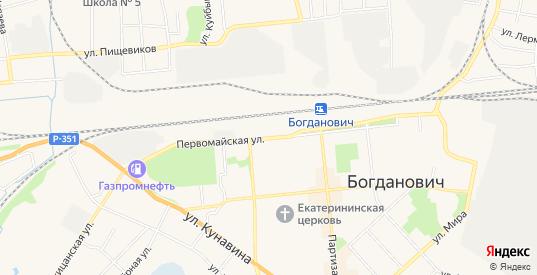 СТ Ветеран на карте Богдановича с номерами домов