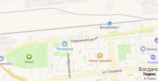 Территория Снт Мичурина-4 в Богдановиче с номерами домов на карте. Спутник и схема онлайн
