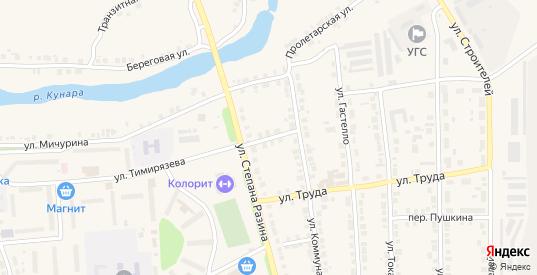 Переулок Коммунаров в Богдановиче с номерами домов на карте. Спутник и схема онлайн