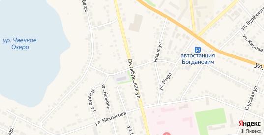 Октябрьский переулок в Богдановиче с номерами домов на карте. Спутник и схема онлайн