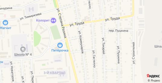 Улица Коммунаров в Богдановиче с номерами домов на карте. Спутник и схема онлайн