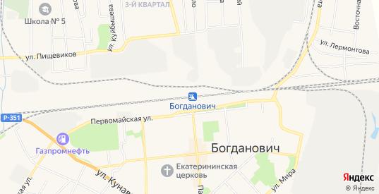 СТ Мелиоратор на карте Богдановича с номерами домов