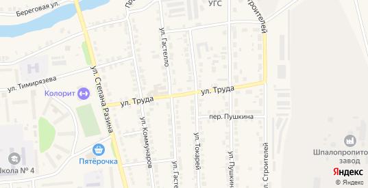 Улица Труда в Богдановиче с номерами домов на карте. Спутник и схема онлайн