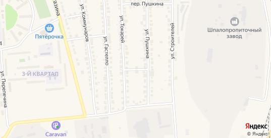 Переулок Токарей в Богдановиче с номерами домов на карте. Спутник и схема онлайн