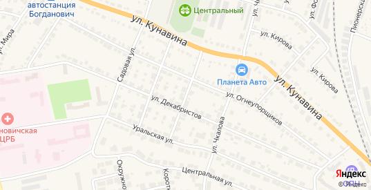 Улица Энергетиков в Богдановиче с номерами домов на карте. Спутник и схема онлайн