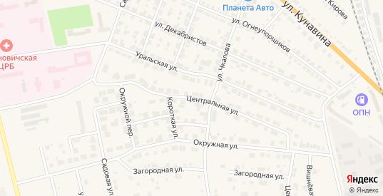 Центральная улица в Богдановиче с номерами домов на карте. Спутник и схема онлайн