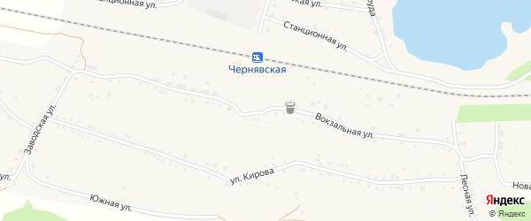 Вокзальная улица на карте села Канашево с номерами домов