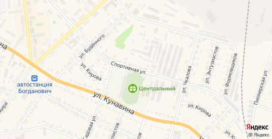 Спортивная улица в Богдановиче с номерами домов на карте. Спутник и схема онлайн