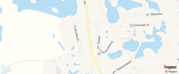 Советская улица на карте села Канашево с номерами домов