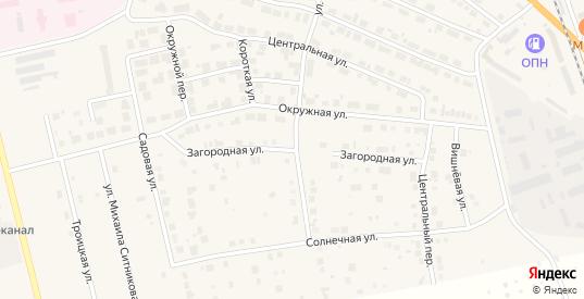 Загородная улица в Богдановиче с номерами домов на карте. Спутник и схема онлайн