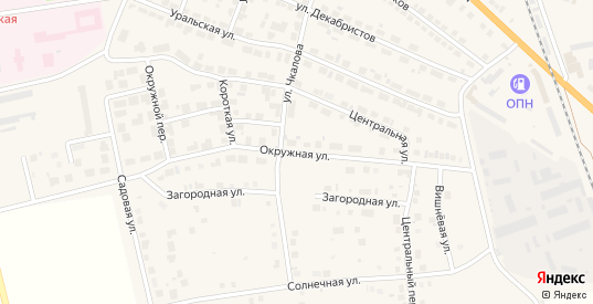 Окружная улица в Богдановиче с номерами домов на карте. Спутник и схема онлайн