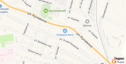 Улица Чкалова в Богдановиче с номерами домов на карте. Спутник и схема онлайн