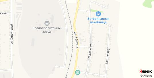 Улица 8 Марта в Богдановиче с номерами домов на карте. Спутник и схема онлайн
