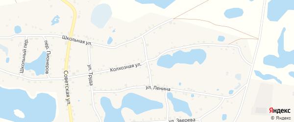 Восточный переулок на карте села Канашево Челябинской области с номерами домов