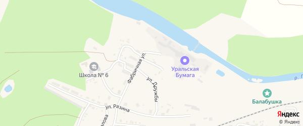 Коммунальная улица на карте Сухого Лога с номерами домов