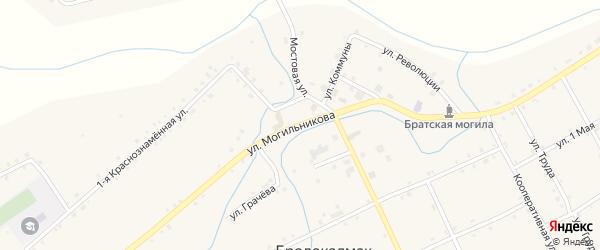 Улица Могильникова на карте села Бродокалмака с номерами домов