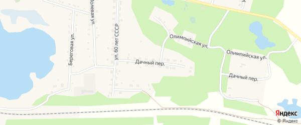 Дачный переулок на карте села Канашево с номерами домов