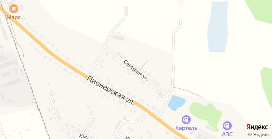 Северная улица в Богдановиче с номерами домов на карте. Спутник и схема онлайн
