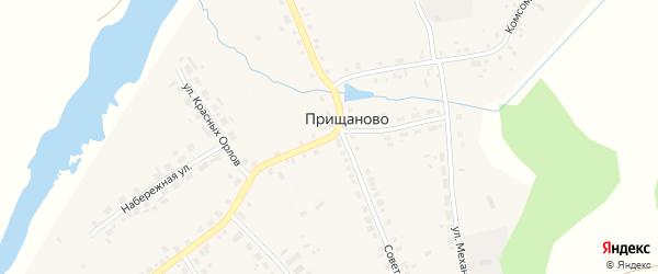 Житная улица на карте деревни Прищаново Свердловской области с номерами домов